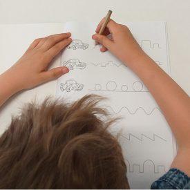 vježba linija za razvoj grafomotorike